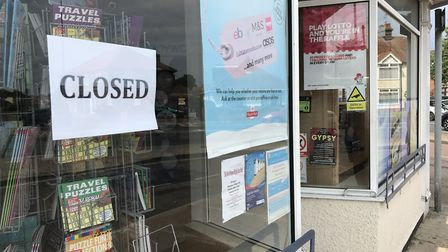 The closed notice at Heath Road Post Office. Picture: EMILY TOWNSEND
