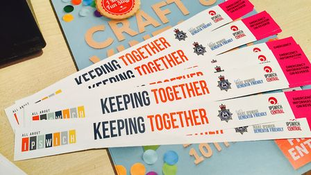 The new Keeping Together wristbands. Picture: IPSWICH CENTRAL