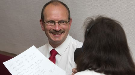 Labour's new Ipswich MP Sandy Martin gives a radio interview . Picture: ASHLEY PICKERING