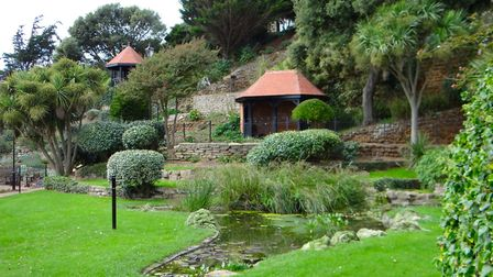 Felixstowe's restored Edwardian gardens on the seafront funded by the National Lottery. Picture: PHI