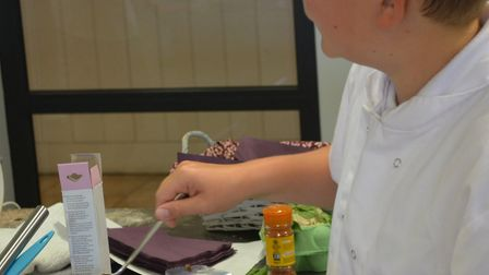 The Peninsula Bake Off final held at Suffolk Food Hall featuring pupils from Ipswich High School for