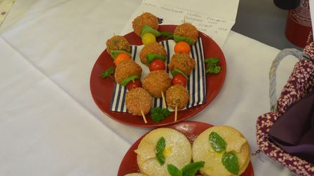The winning Holbrook dishes at the Peninsula Bake Off final held at Suffolk Food Hall featuring pupi