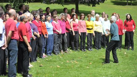 Singing Safari choir performing at Holywells Park in 2014. Picture: SU ANDERSON