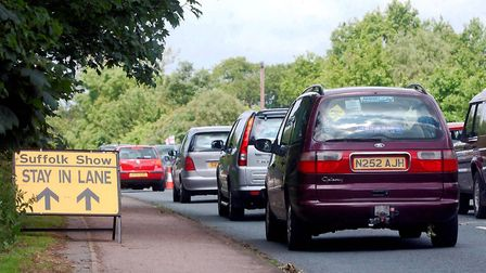 Library image of traffic heading to the Suffolk Show. Picture: SIMON PARKER