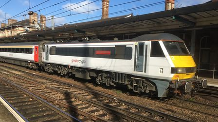 Trains to and from London are being delayed. Picture: PAUL GEATER