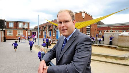 Headteacher Bill Holledge at Great Yarmouth Primary Academy in 2012. Picture: JAMES BASS