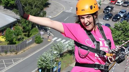 Ipswich Hospital Charity events and community fundraising officer Jessica Watkins sets off on her ab