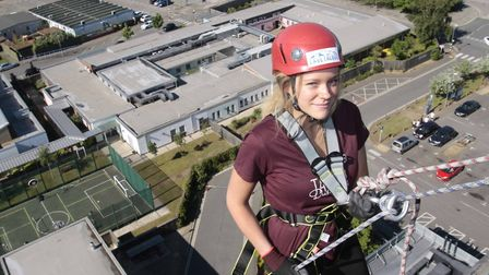 One of the abseilers sets off. Picture: NIGE BROWN