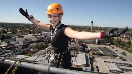 The abseilers descended more 120ft. Picture: NIGE BROWN