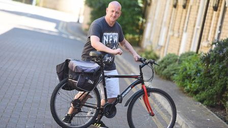 Peter Versey was hit by a car while riding to work on his bicycle. Picture: GREGG BROWN