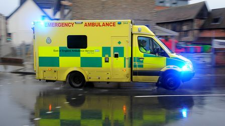 An East of England Ambulance. Picture: SIMON PARKER