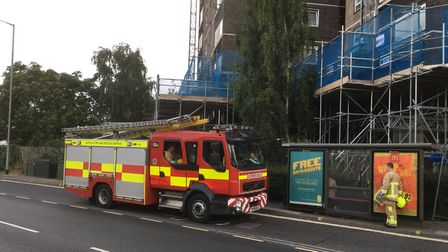 Firefighters training at Cumberland Towers. Picture: PAUL GEATER
