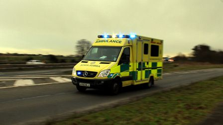 The ambulance service has been called after a young cyclist was injured in a crash. Picture: SIMON P
