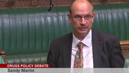 Sandy Martin making his maiden speech in the House of Commons. Picture: BBC