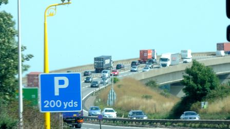Average speed cameras on the A14 by the Orwell Bridge