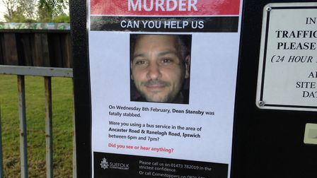 Posters asking for the public's help in the Dean Stansby murder investigation were put up in the Anc