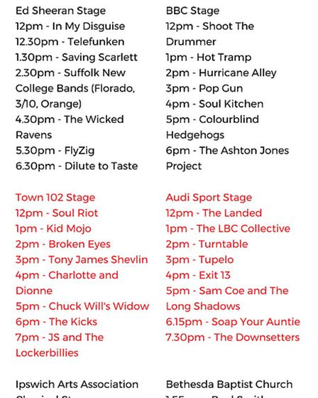 Ipswich Music Day 2017 line-up. Picture: JASON NOBLE