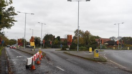 The latest round of work follows the successful removal of traffic lights at Ropes Drive west rounda
