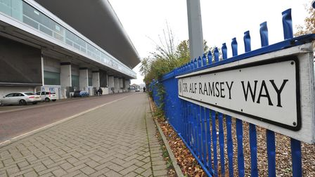 Sir Alf Ramsey Way, Ipswich. Picture: SARAH LUCY BROWN