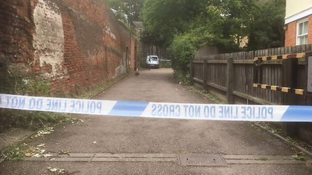 The police cordon in St Clement's Church Lane