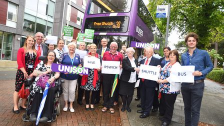 The Labour and trade union campaign failed to save the Ipswich shuttle bus. Picture: GREGG BROWN