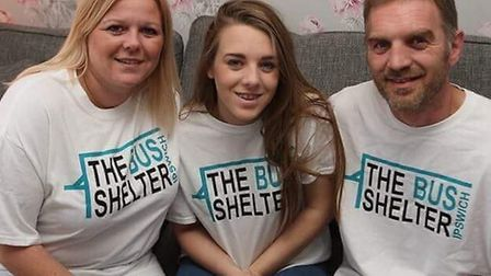 An Ipswich family have been so inundated with clothing for the homeless that they have taken on a st