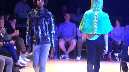 The fashion show to celebrate the work of fashion students at One sixth form in Ipswich. Picture: ON