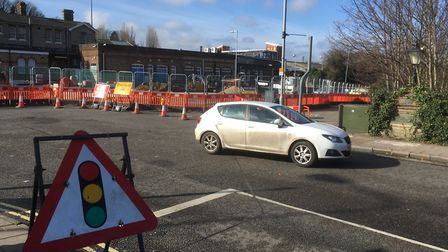 Drivers are facing eight weeks of disruption as work to replace sewer pipes takes place enar the rai