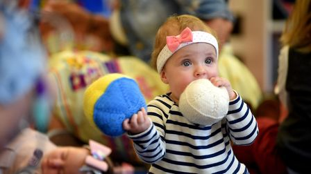 Little Violet at Ipswich Library. Picture: PAGEPIX