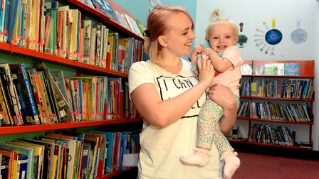 Abbie Curtis with her daughter Evelyn. Picture: PAGEPIX