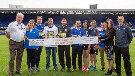 The Great East Run announcing their partnership with Ipswich Town - Cllr Tony Goldson, Suffolk Count