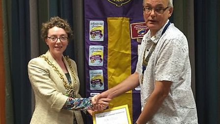 Ipswich mayor Sarah Barber joining the Lions Club of Ipswich. Picture: WENDY COOK