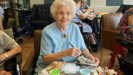 Asterbury Place resident Pauline Salmon at Care Home Open Day. Picture: ASTERBURY PLACE