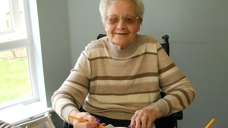 Asterbury Place resident Irene Brendish at Care Home Open Day. Picture: ASTERBURY PLACE