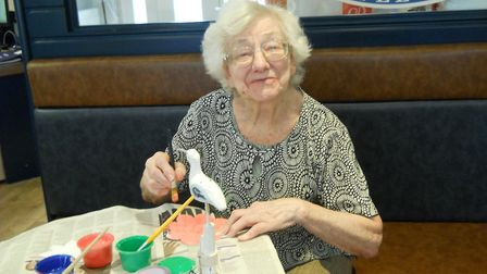 Audrey King enjoying Care Home Open Day at Asterbury Place. Picture: ASTERBURY PLACE