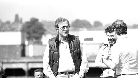 Michael Caine filming on Ipswich docks for The Fourth Protocol