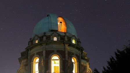 The Orwell Park school observatory is often used by the society. Picture: DAVID MURTON
