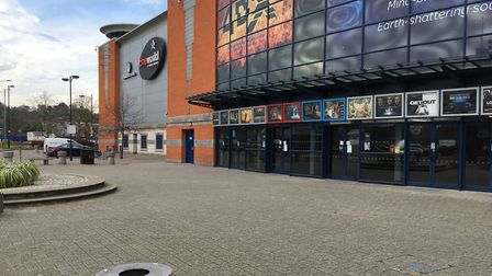 Rebuilding work at Cineworld is nearly complete. Picture: Jason Noble