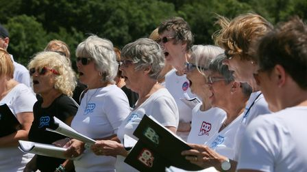 The Pop Chorus has around 400 members, and is divided into eight smaller choirs