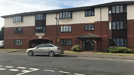 The block of flats where the woman was found critically ill on Wednesday. Picture: EMILY TOWNSEND