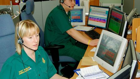 File picture of an ambulance 999 control room