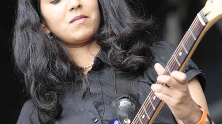 Smitha Rao performing at Jimmy's Festival. Picture: NIGE BROWN