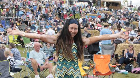 Natalie Jones among the crowd at the two-day Jimmy's Festival. Picture: NIGE BROWN