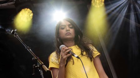 Smitha performing at Jimmy's Festival.Picture:NIGE BROWN.