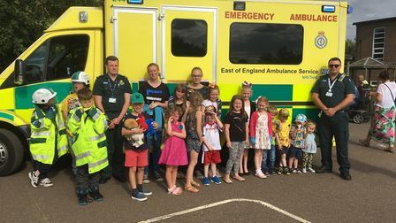 Marcus Leeper and Ali Mackay at the Causton Primary summer fair. Picture: EEAST