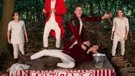 Emma Swan, Jack Heydon, Ryan Penny, Darren Latham and Fizz Waller in Red Rose Chain's As You Like It