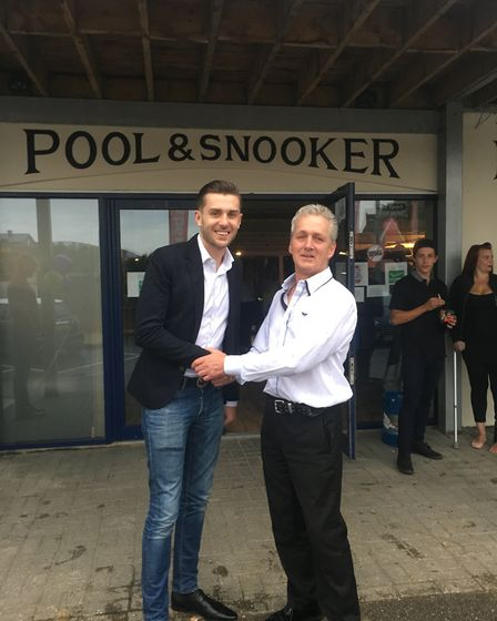 Mark Selby attended the opening of Bears Pool & Snooker in Ipswich. Picture: CONTRIBUTED