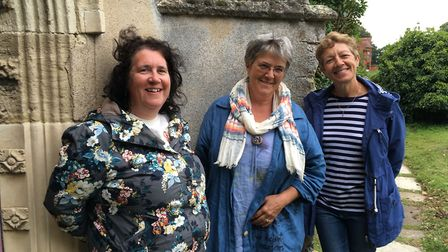 Suzanne Hawkes, Helen Clarke and Jayne Lindill, the founders of the Two Sisters Arts Centre, based a