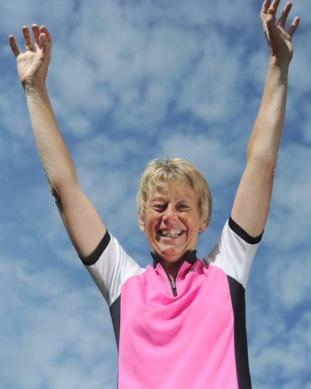 Heather Guttery has completed 48 triathlons. Picture: SARAH LUCY BROWN