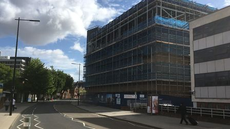 The new office being built for Birketts by Ipswich Borough Assets - part of the borough council.